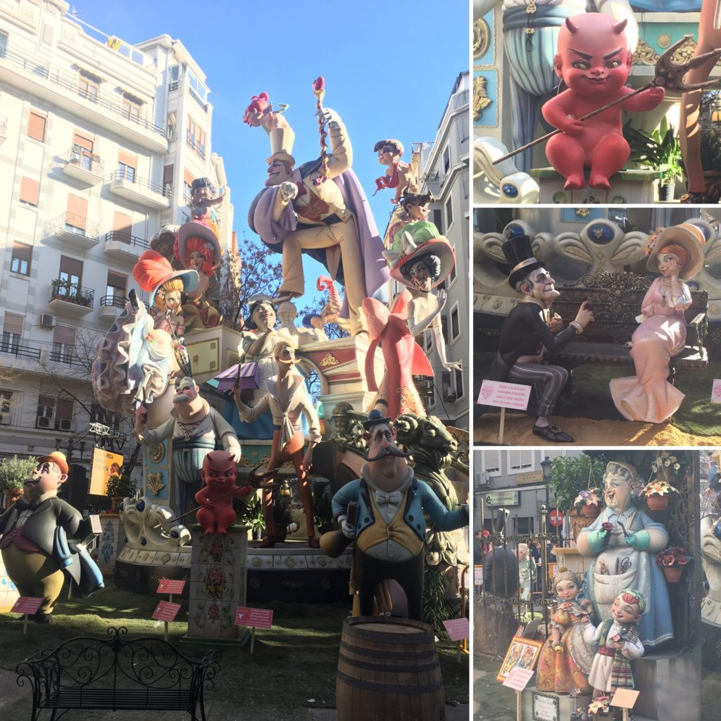 Ninots are used to create the larger Fallas.