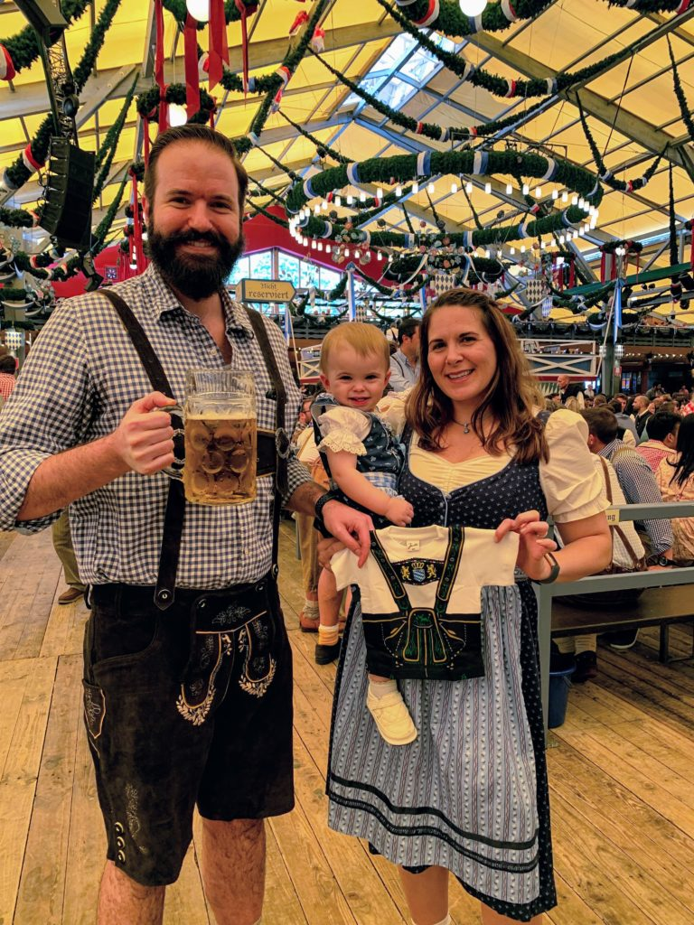 Oktoberfest Baby Announcement